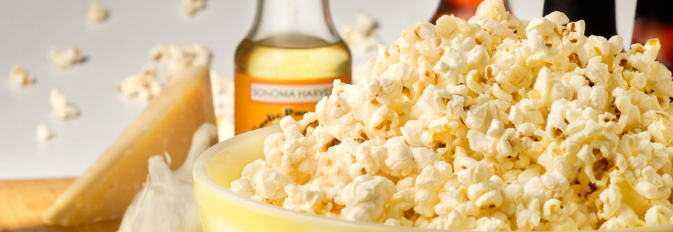 Garlic Parmesan Popcorn Oil